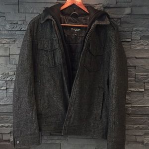 Guess hooded wool lined jacket